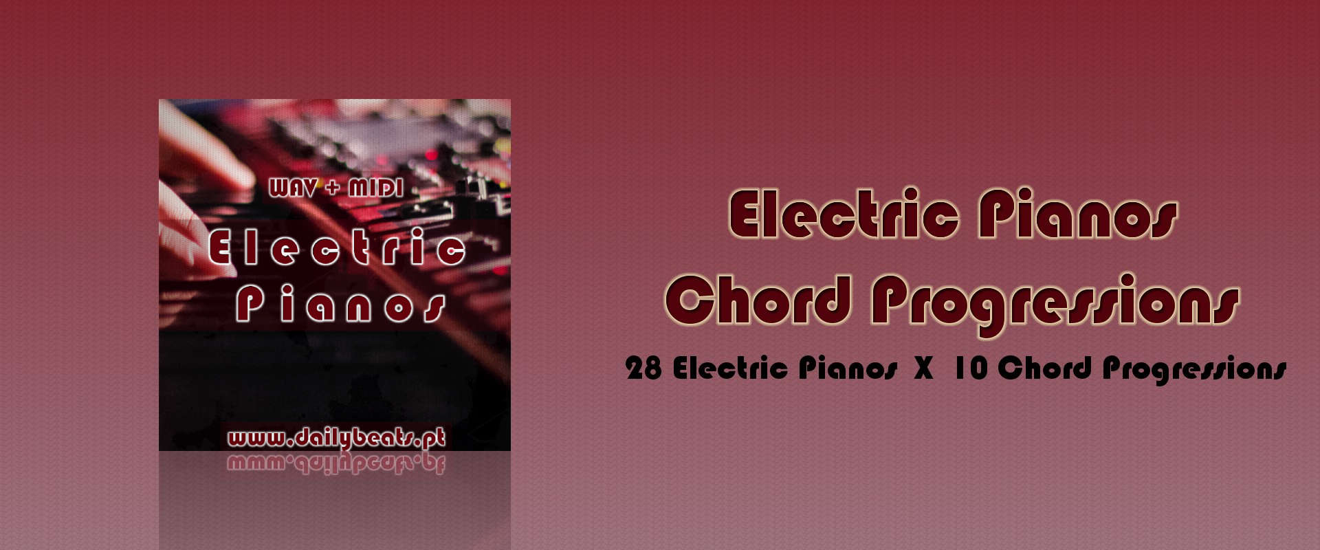 Electric Pianos Chord Progressions Banner