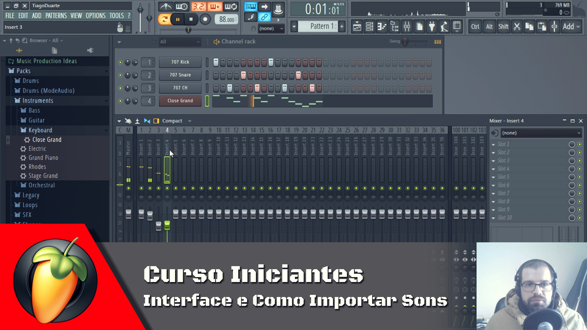 Interface e Como Importar Sons
