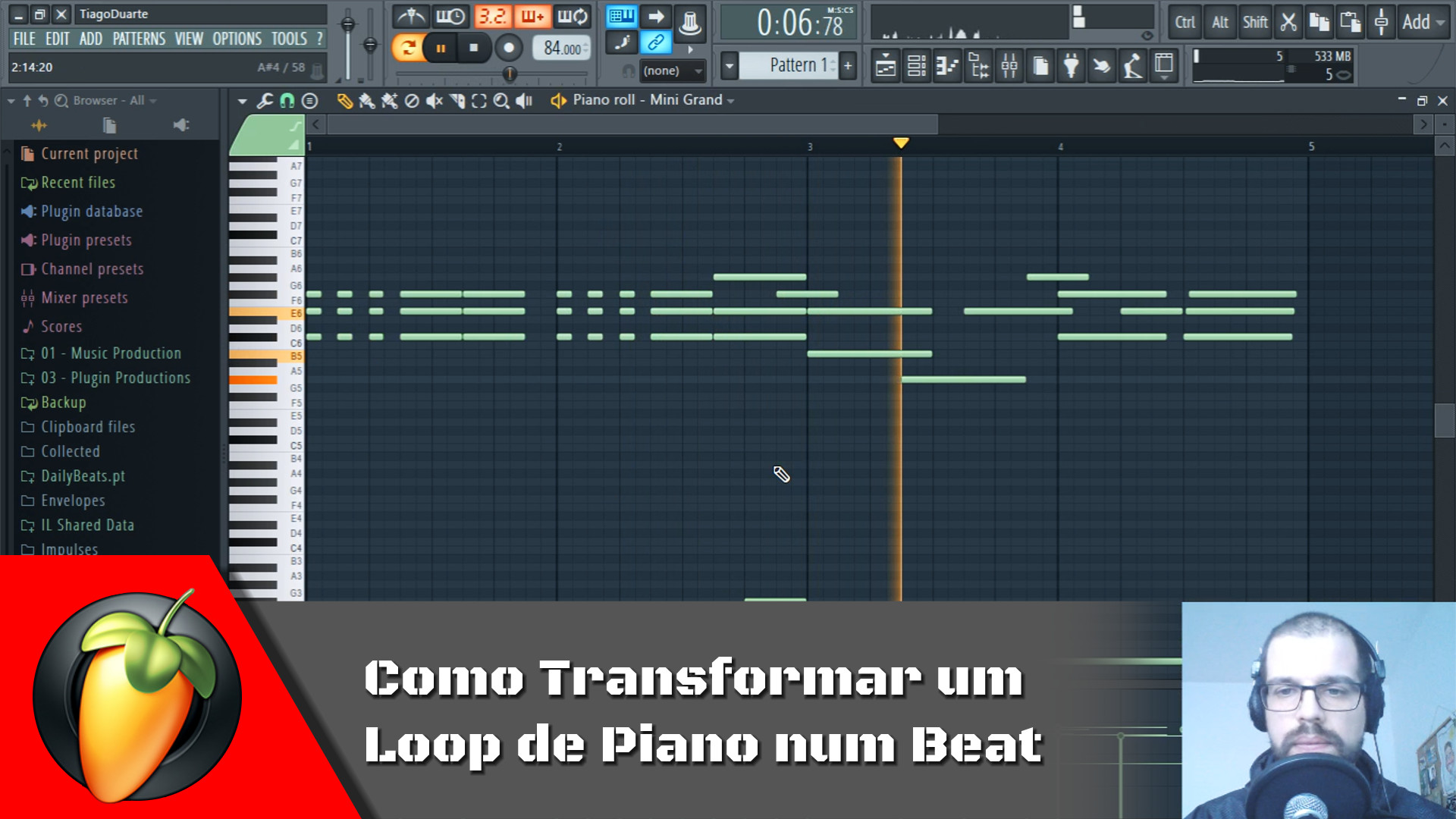 Como Transformar um Loop de Piano num Beat